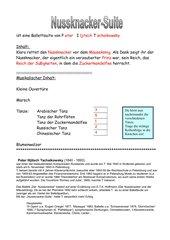 Nussknacker-Suite   (Arbeits- und Merkblatt)