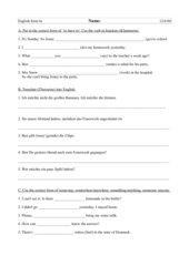gemischte Übungen 6. Klasse