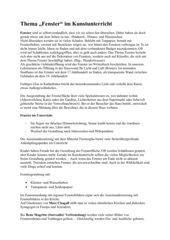 Fenster im Kunstunterricht (u.a. Hundertwasser)