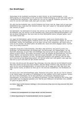 Der Briefträger - Auseinandersetzung mit Fremdenfeindlichkeit