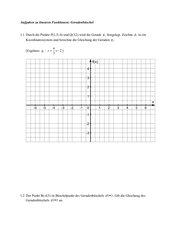 lineare Funktionen - Geradenbüschel