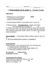 4.Wochenplan Deutsch Kl 7 Gym