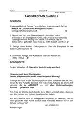 1.Wochenplan und Materialien fortlaufend Deutsch/Geschichte Kl 7 Gym
