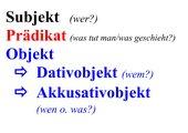 Lernplakat Satzglieder