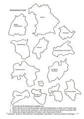 Puzzle aufkleben