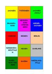 Bundesländer - Zuordnungsspiel / Memo-Spiel