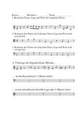 Test Musik Noten Notenschlüssel