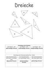 Konstruktion von dreiecken arbeitsblatt
