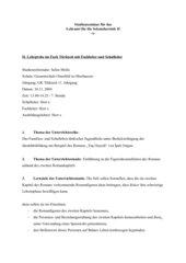 Einführung in die Figurenkonstellation anhand des zweiten Romankapitels