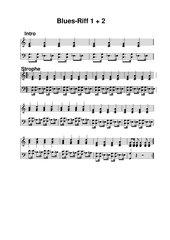 Sechs Blues-Riffs für Klavier
