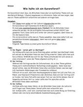 Anleitung: Wie halte ich ein Kurzreferat