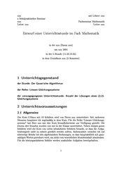 Gaussverfahren 12. Klasse Grundkurs