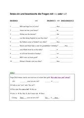 Fragen mit Do
