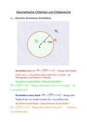 Komplette Unterrichtsvorbereitung zu Geometrischen Ortslinien und Ortsbereichen, Thaleskreis