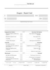 Ss benoten ihre Lehrer - Zeugnisformular mit Bewertungskriterien