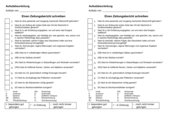 Aufsatzbeurteilung - Einen Zeitungsbericht schreiben