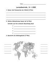 Lernzielkontrolle zum Thema