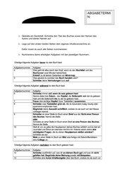 Aufgaben für ein Lesetagebuch
