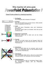 Wie mache ich eine gute Power Point Präsentation?
