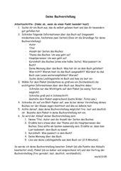 Anleitung für eine Buchvorstellung