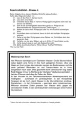 Abschreibdiktat - 4. Klasse