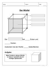 AB zu Würfel, Quader und Kugel/Zylinder
