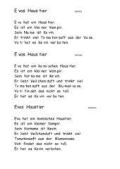 Evas Haustier -