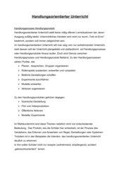 Handlungsorientierung in der Mathematik (Referat)