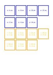 Domino - Flächenberechnung Rechteck und Quadrat
