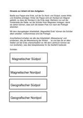 Erarbeitung Magnetfeld Erde und Deklination