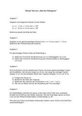 Test / Übung Pythagoras