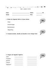Testbogen Blick 1, Lektion 2