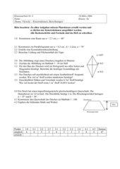 Vierecke Konstruktionen-Berechnungen