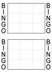 Bingo-Spielplan (9 Felder)