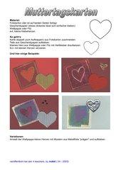 Karten zum Muttertag basteln im Materialmix