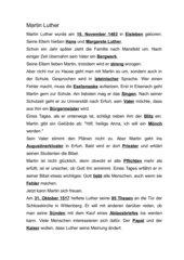 Martin Luther - Text für Schülerheft