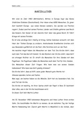 Martin Luther - Zusammenfassung