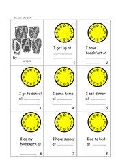 My Day  -  Uhrzeiten / Tagesablauf