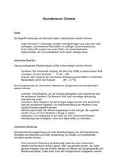 Grundwissen - Chemie
