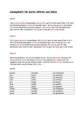 Lösungen zur Grammatikkartei