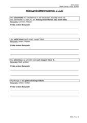 Übungsblatt mit RS-Regeln zum Thema s-Laute