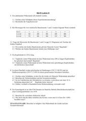 Klassenarbeit E-Lehre Kl.8