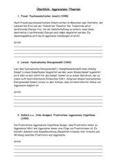 Überblicksblatt Aggressionstheorien