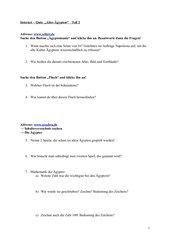 Internet - Quiz zum alten Ägypten