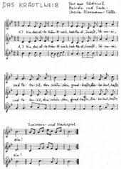 Das Kräutlweib - mehrstimmiger Liedsatz