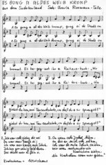 Es gung a aldes Weib kromp -  Liedsatz mit Blockflöten