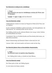 Einfache Beistrichregeln (Kommaregeln)