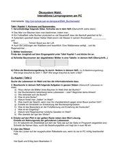 Arbeitsanweisung zu Buchenwald-Programm