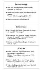 Wiegen und Schätzen (Karteikarten)