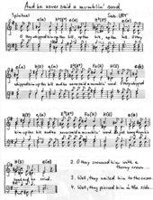 And he never said a mumblin' word - Spiritualsatz für vierstimmig gemischten Chor